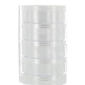 Clear Stackable Bead Containers